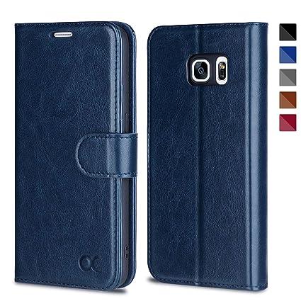 OCASE Samsung Galaxy S7 Hülle, Handyhülle Samsung Galaxy S7 [Premium Leder] [Standfunktion] [Kartenfach] [Magnetverschluss] L