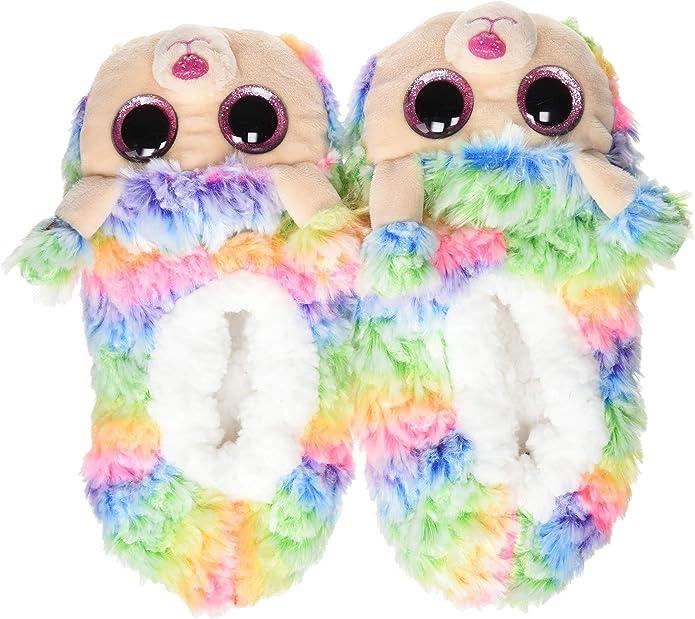 Ty – Zapatillas de Peluche Rainbow el Perro Caniche: Amazon.es: Zapatos y complementos
