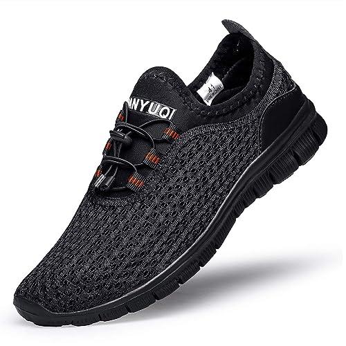 Zapatillas Deportivas de Hombres Mujeres Slip On Zapatos Casuales Cómodos y Transpirables para Caminar Correr Gimnasio