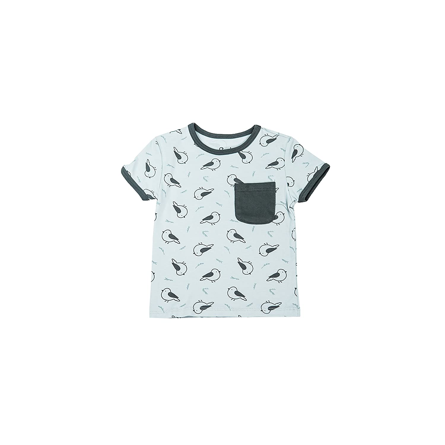 16bf90ea Amazon.com: Baby T Shirt with Pocket for Boy or Girl Infants and Toddlers,  Premium Bamboo Tee - Unisex Available Sizes 12 Mo - 4T: Clothing