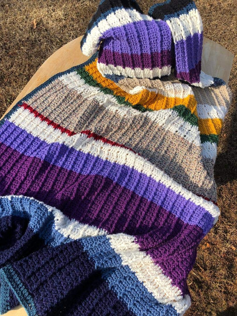 Image of Multi Color Handmade Afghan Throw Home and Kitchen