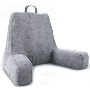 ZIRAKI Large Plush Shredded Foam Reading And TV Relax Pillow