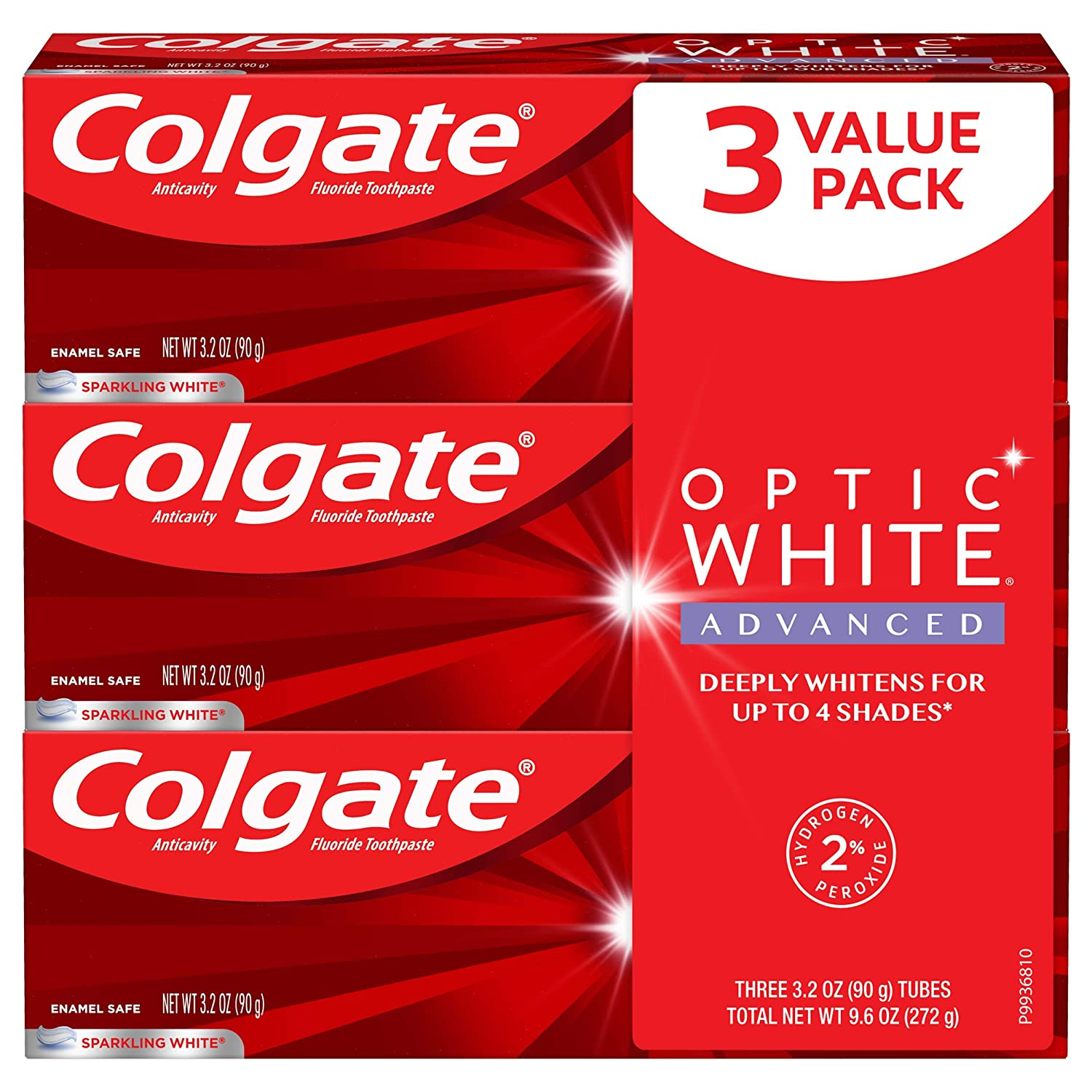 Amazon Com Colgate Optic White Advanced Teeth Whitening