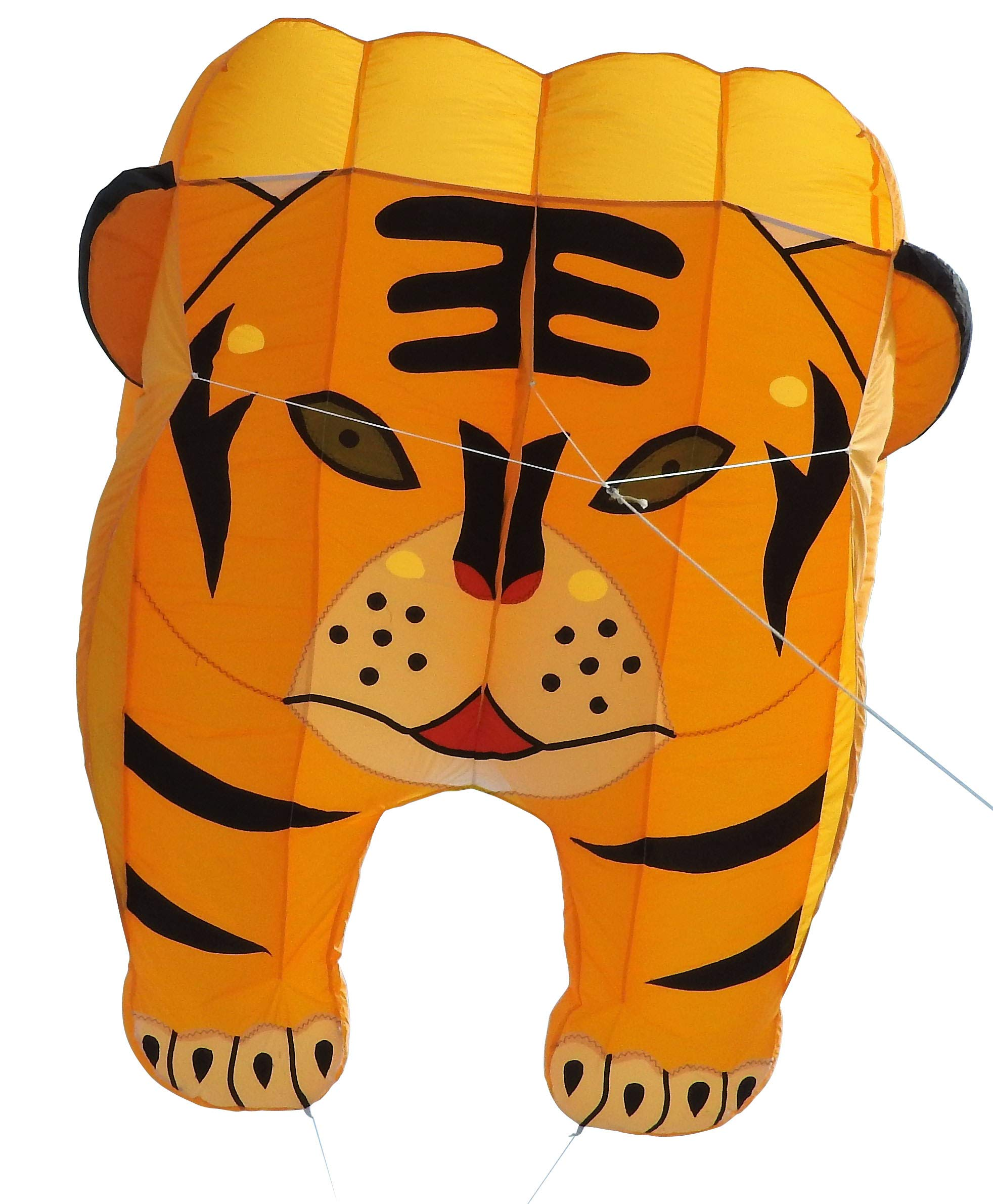Fullfar Tiger 3D Kite for Adult, Soft Nylon Material Parafoil Kite for Kids. Easy to Fly 244×39 inch with Kite String and Backpack, Perfect Kite for The Beach or Park.