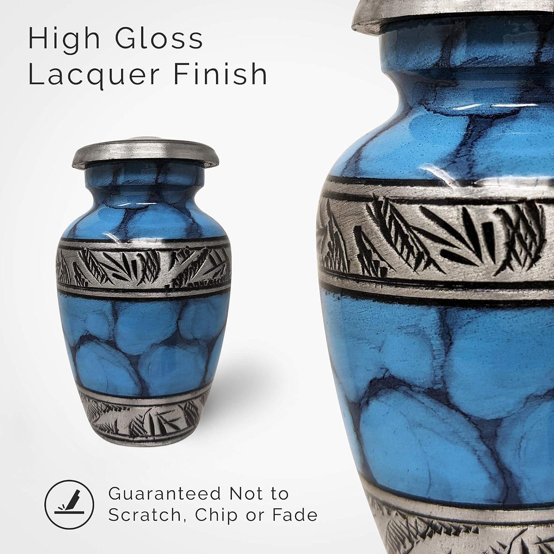 HMMJ Mini Cr/émation Urnes for Ashes Humaine imperm/éable d/écoratif Cr/émation Holder fun/éraire Urnes Cendres Color : Golden 30 * 20 mm