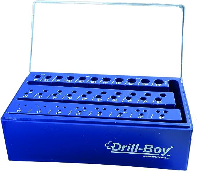 Drill de Boy plástico soporte caja vacía broca Tabla Caja vacía para broca espiral 55 unidades 1 – 13 mm x 0,5 mm + Núcleo orificios tamaños: Amazon.es: Bricolaje y herramientas