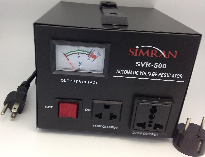 Simran Svr 2000 Automatic Voltage Regulator With Built In 110 Volt Transformer Step Up Down 110v 220v Circuit Breaker Protection 240
