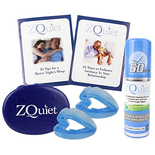 ZQuiet Anti-Snoring Solution, Deluxe Boxed Set: 2-Size Comfort System Starter Kit with Cleaner and 2 Booklets