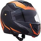 Vega Crux Dx Checks Dull Black Orange Helmet-L