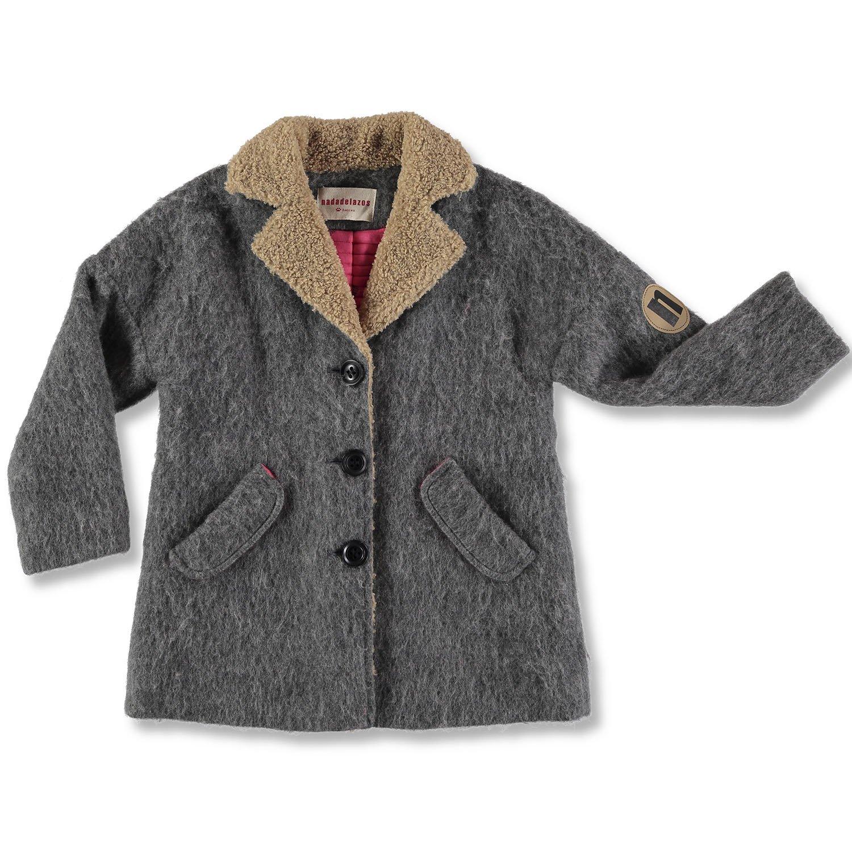 gris 8 ans nadadelazos Woolen Coat gris, Manteau Fille