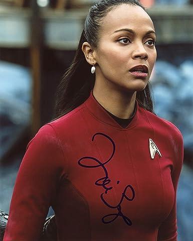 Zoe Saldana Star Trek Autograph Signed 8x10 Photo Acoa At