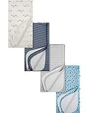 Gerber baby-boys 4 Pack Flannel Receiving Blanket