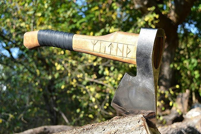 Hand forged Viking axe High carbon steel handmade hatchet