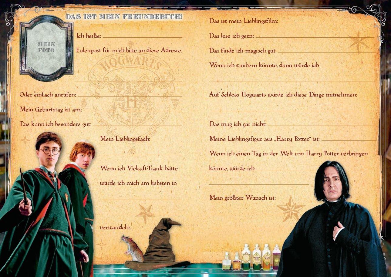 Harry Potter Freundebuch Weihnachtsgeschenk