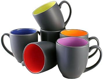 iti ceramic bistro hilo coffee mugs with pan scraper 14 ounce 6pack