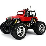 Velocity Toys Jeep Wrangler Remote Control RC Truck Big 1:16 Size Off-Road Monster RTR (Colors May Vary)