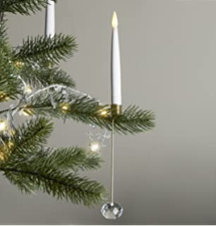 christmas tree candles with holders and hooks led tapers with timer remote control