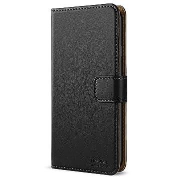 HOOMIL Cuero Premium Funda para Apple iPhone 6 / 6S Carcasa (Negro)
