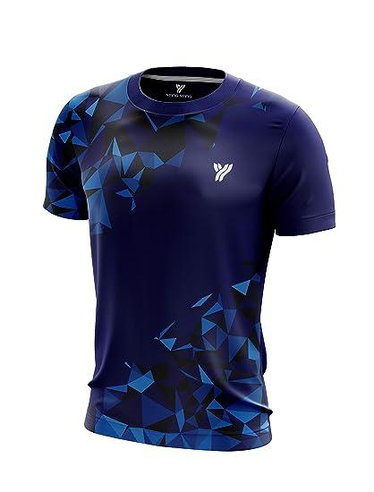 9d7ac14abd20c YANG-YANG Men's Short Sleeve Badminton T-Shirt Tournament Tee 100% Polyester