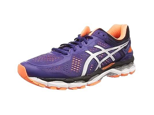 ASICS - Gel-Kayano 22, Zapatillas de Running Hombre, Azul (Deep Cobalt/Silver/Hot Orange 5093), 42 EU: Amazon.es: Zapatos y complementos