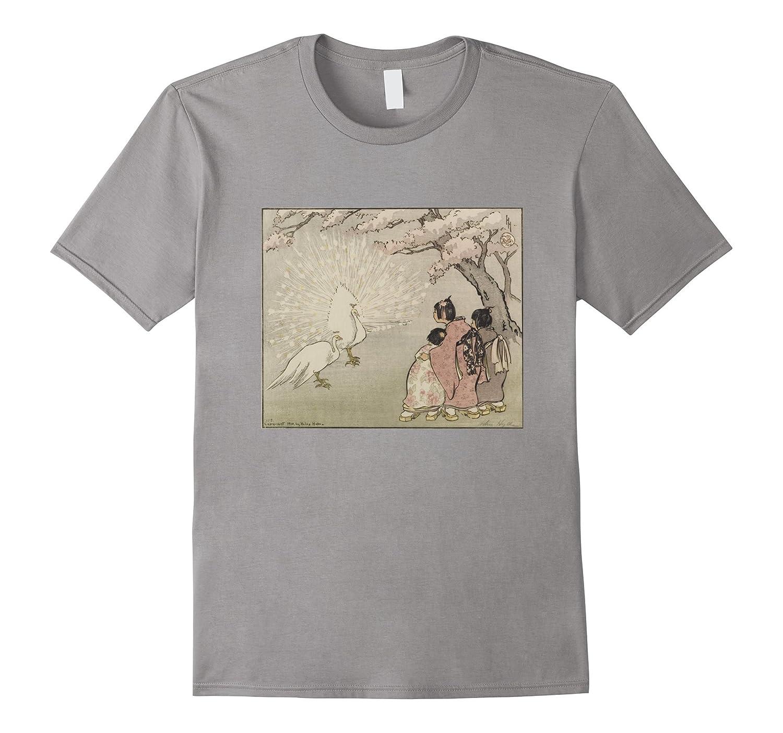 Vintage Peacock T-Shirt - Asian Art Tee-BN