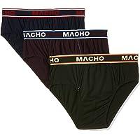 MACHO Men's Smart Cut Cotton Briefs (Pack of 3), Multicolor