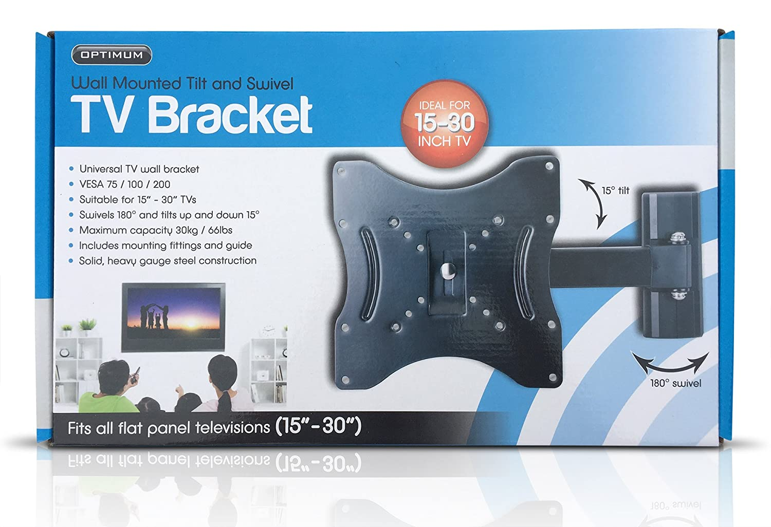 Optimum Wall Mounted Tilting TV Bracket with: Amazon co uk