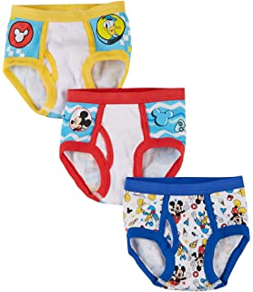 103a90789cee8 Disney Mickey Mouse Little Boys' Toddler Club Friends 3-Pack Briefs