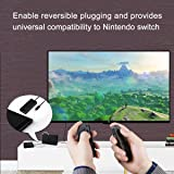 Fashioneey Extender Cable for Nintendo Switch Dock, USB-C Charging Cable Compatible Switch Console Connector Extender Cord Charging and Data Sync Compatible Switch Dock