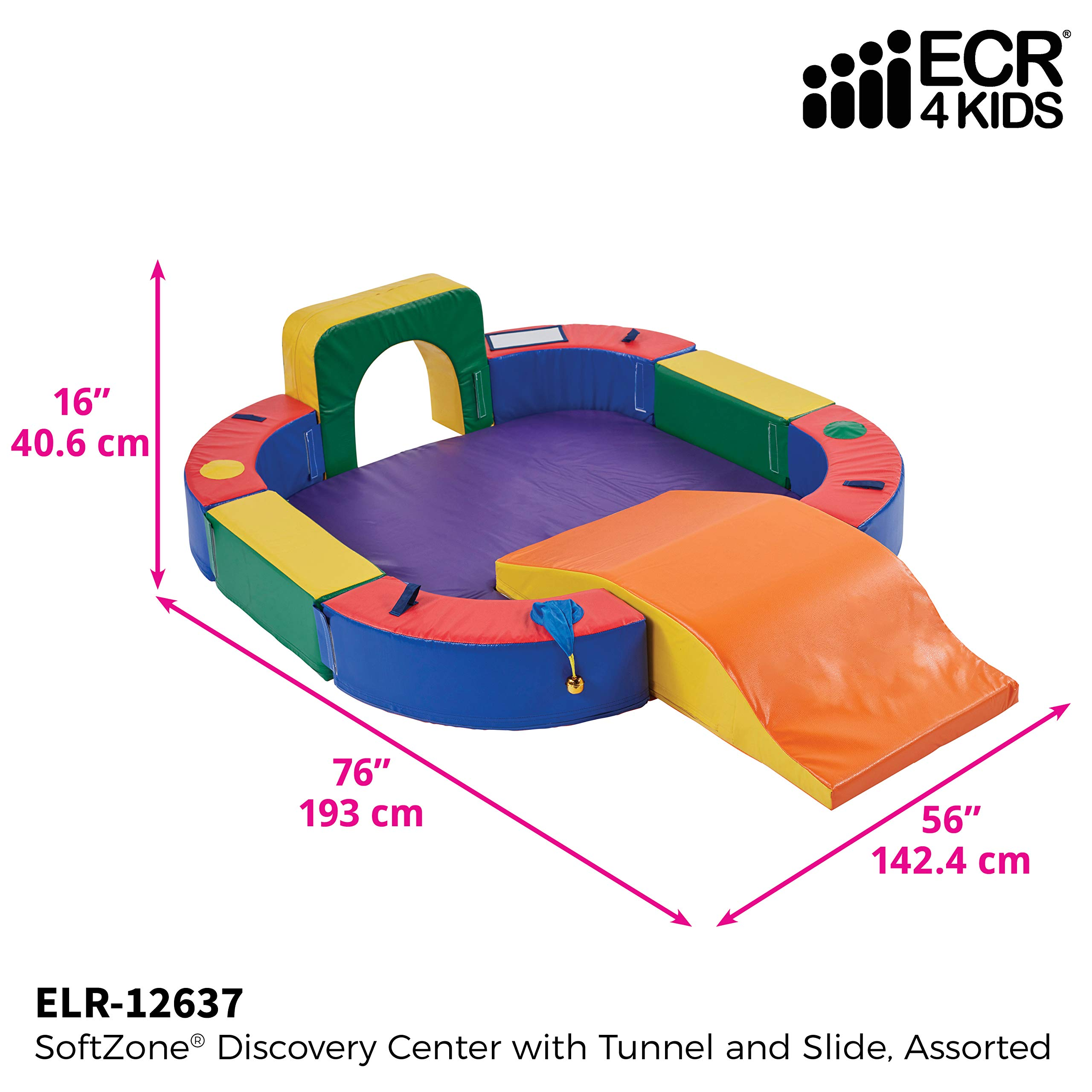 ECR4Kids SoftZone Discovery Center with Tunnel and Slide Playset, Assorted by ECR4Kids (Image #2)