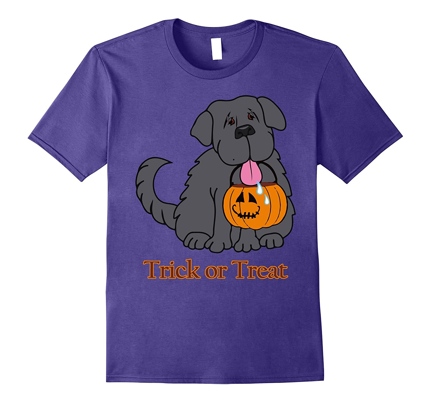 Cute Happy Holloween Dog Trick Or Treat Tee for dog lover-FL