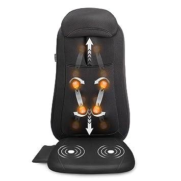Amazon.com: Snailax Shiatsu Masajeador de espalda para silla ...