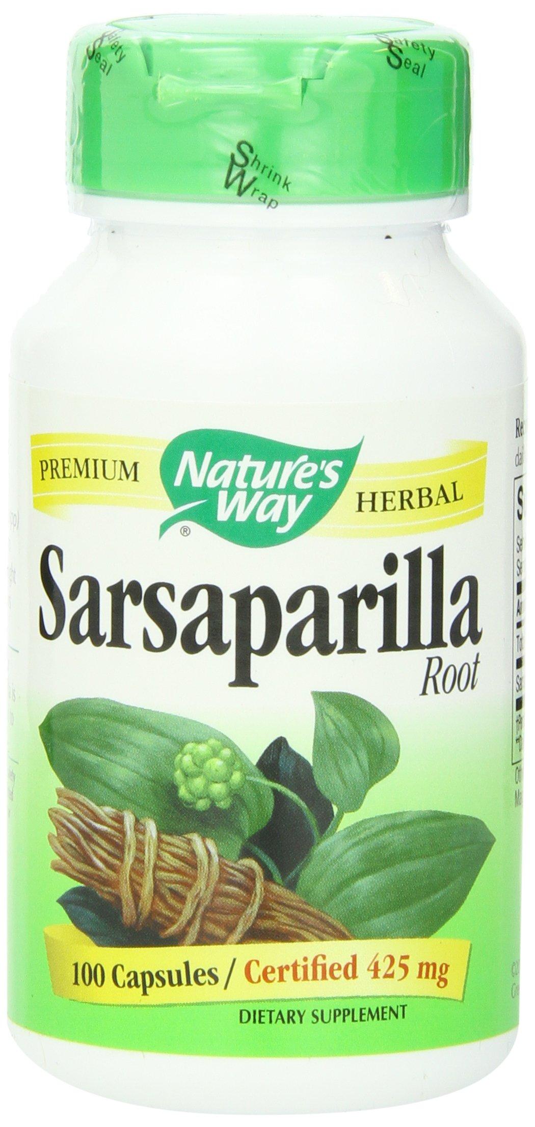 Nature's Way Sarsaparilla Root Capsules 425 mg, 100-Count