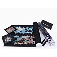 Lavievert Jigsaw Puzzle Roll Mat Puzzle Storage Mat Felt Mat, Long Box Package, Jigroll Up to 1,500 Pieces - Comes with A Drawstring Opening Design Bag & 4 Sorting Trays