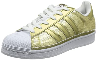 adidas Originals Damen Superstar Sneaker Gold Metalic/FTWR White ...