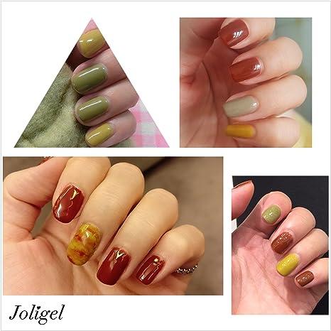 Joligel Esmaltes Permanentes para Uñas 4pzs Gel Semipermanente Manicura Pedicura UV LED, Amarillo jengibre +