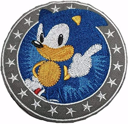 Sanic  Embroidered Iron on Applique Patch