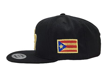 6f69b9ad624442 Amazon.com: Peligro Sports Puerto Rico Snapback Hats Vintage Hats (Snapback  Black/Gold): Sports & Outdoors