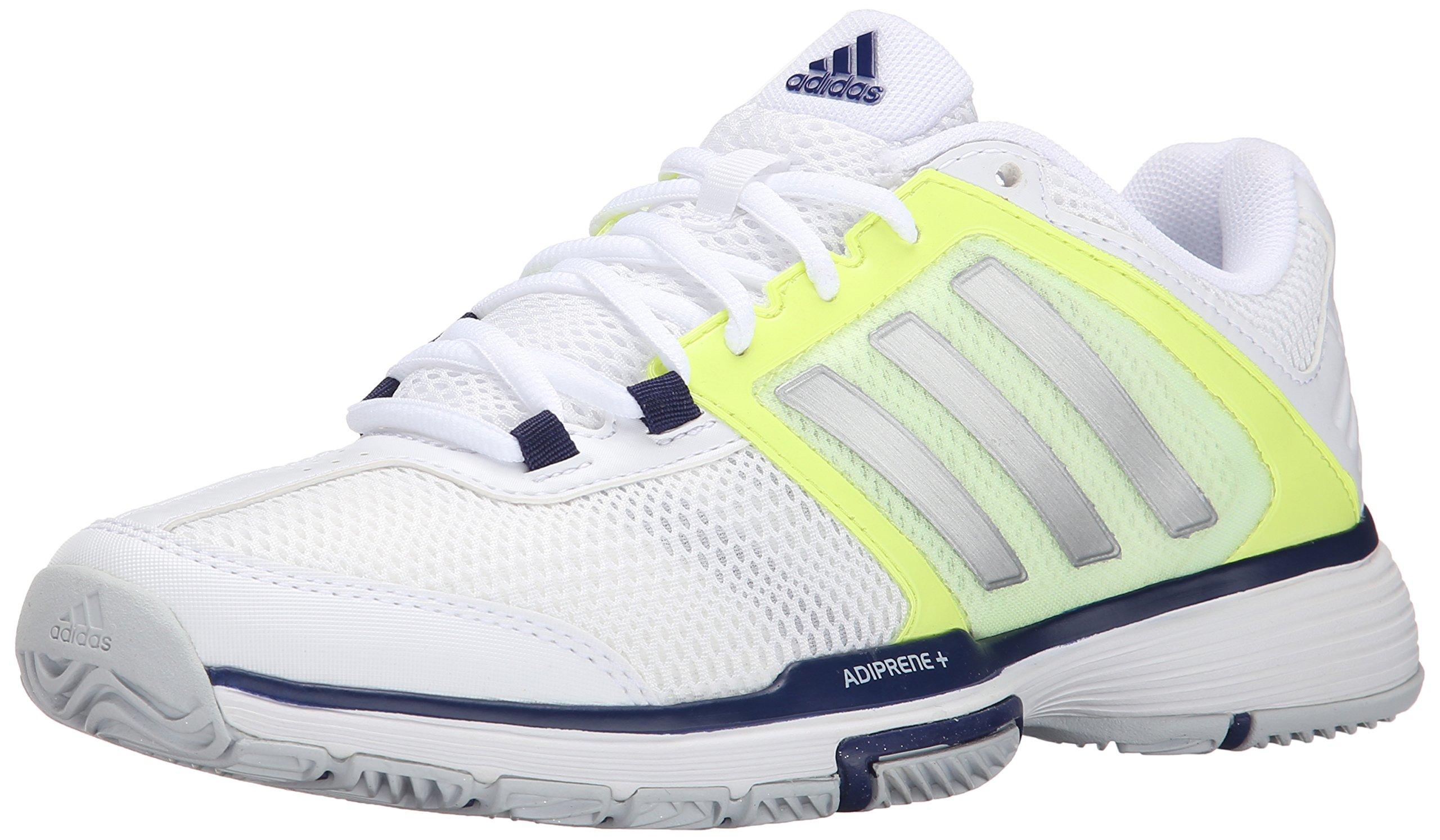 Galleon  Adidas Performance Womens Barricade Team 4 W Tennis Shoe White Matte  Silver Midnight Indigo 11 M US