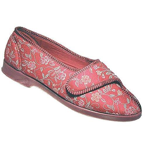 GBS Slippers - Mocasines para mujer Rojo Rouge - Bordeau 38.5: Amazon.es: Zapatos y complementos