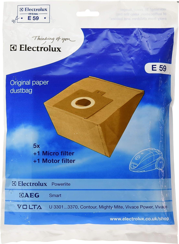 5 X GENUINE E3N 300 SERIES VACUUM CLEANER BAGS FIT ELECTROLUX VOLTA 9001959551