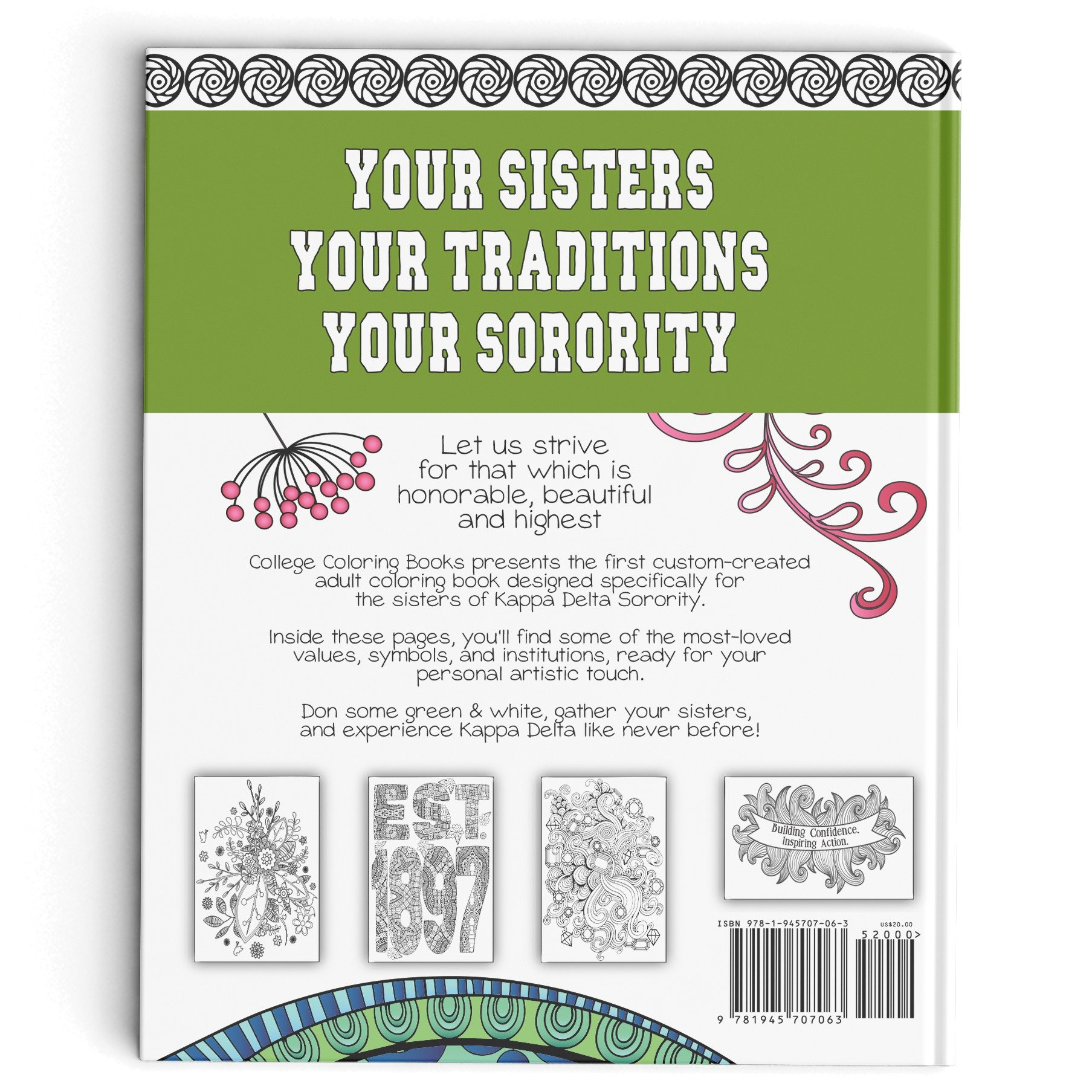 Kappa Delta Adult Coloring Book College Coloring Books