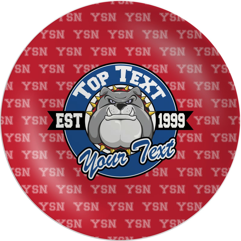 School Mascot Melamine Plate (Personalized)