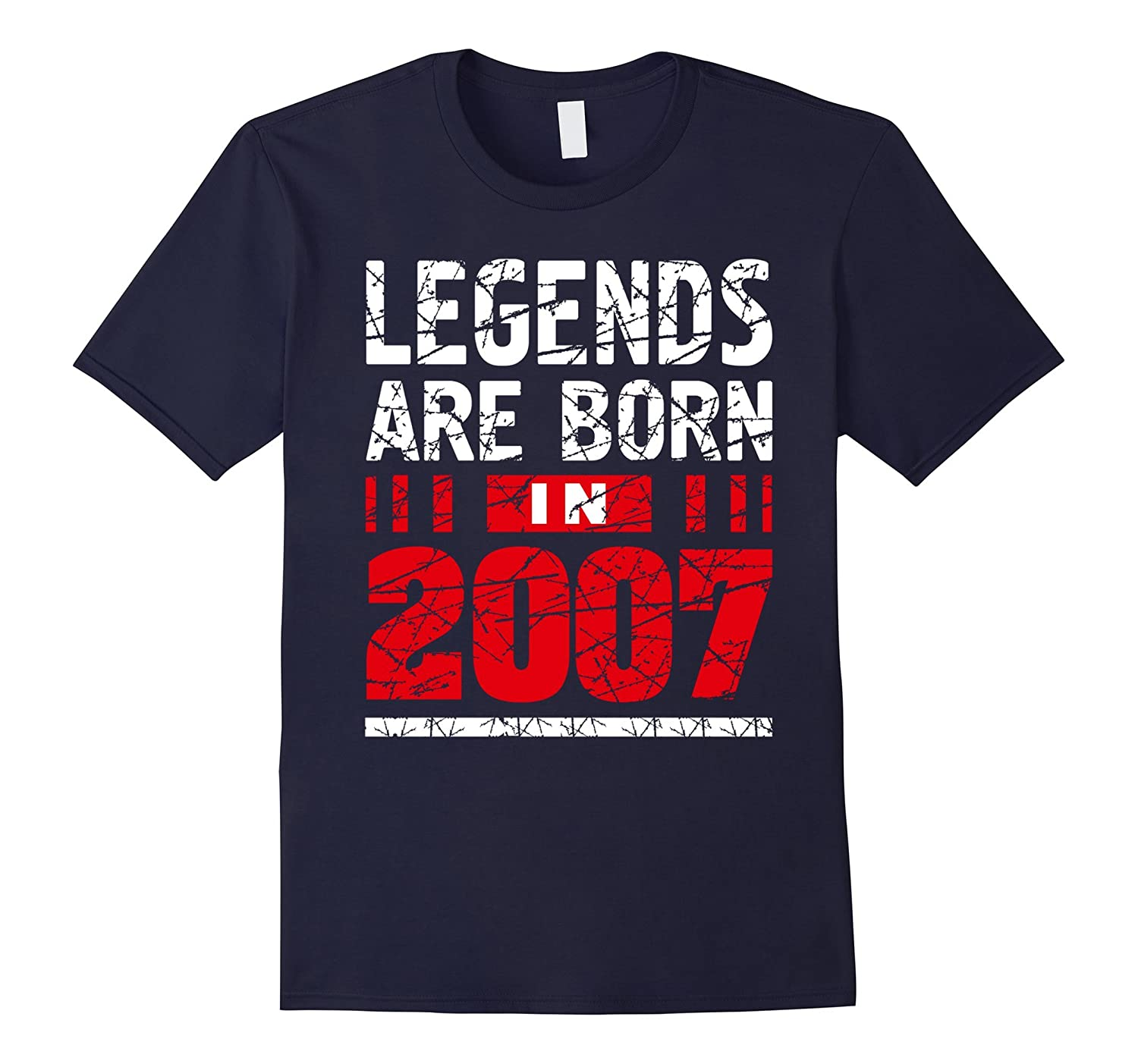 10 years old 10th Birthday B-day Gift Legends 2007 T Shirt-FL