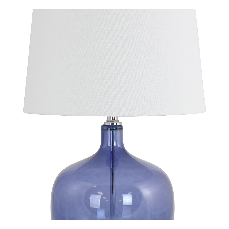 Amazon Com Aspire Nina Blue Glass Table Lamp Home Kitchen