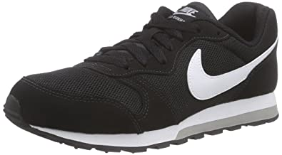 Nike MD Runner 2, Jungen Sneakers, Schwarz (Black/White-Wolf Grey), 36.5 EU (4 Kinder UK)