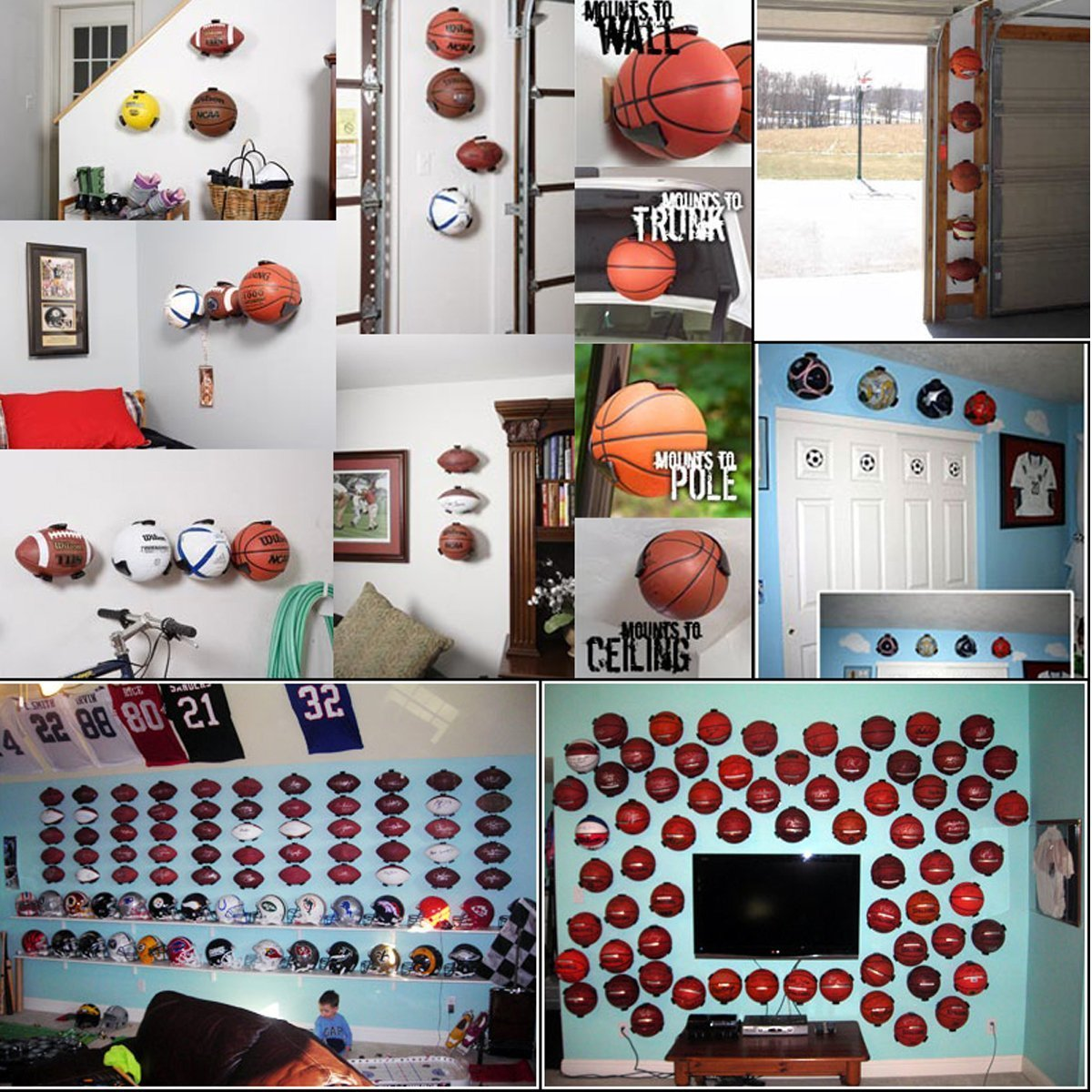 Ballhalter Ball Wandhalterung Sportball Claw Schau auf der Wand f/ür Basketball Fu/ßball Volleyball American Football Hand Claw