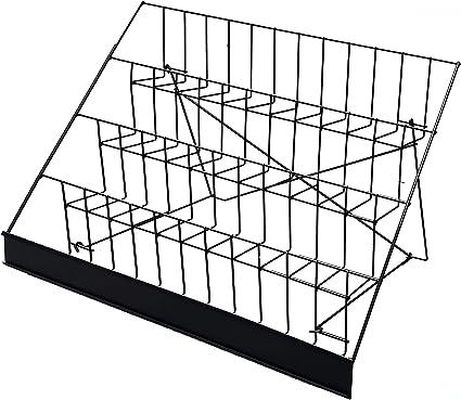 2.5 Deep Open Shelves 119362-WHITE FixtureDisplays 4-Tiered 18 Wire Display Rack Literature Brochure Magazine Stand Book Tabletop Rack