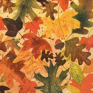 ideal home range 20 count decorative paper napkins luncheon autumn leaves - Decorative Paper Napkins