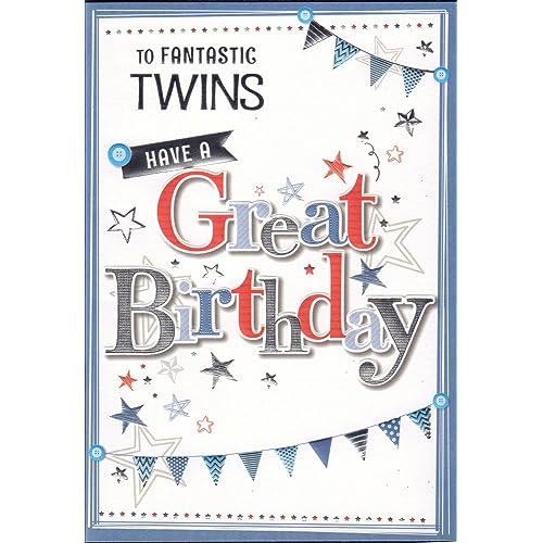 Twins Birthday Cards Amazoncouk